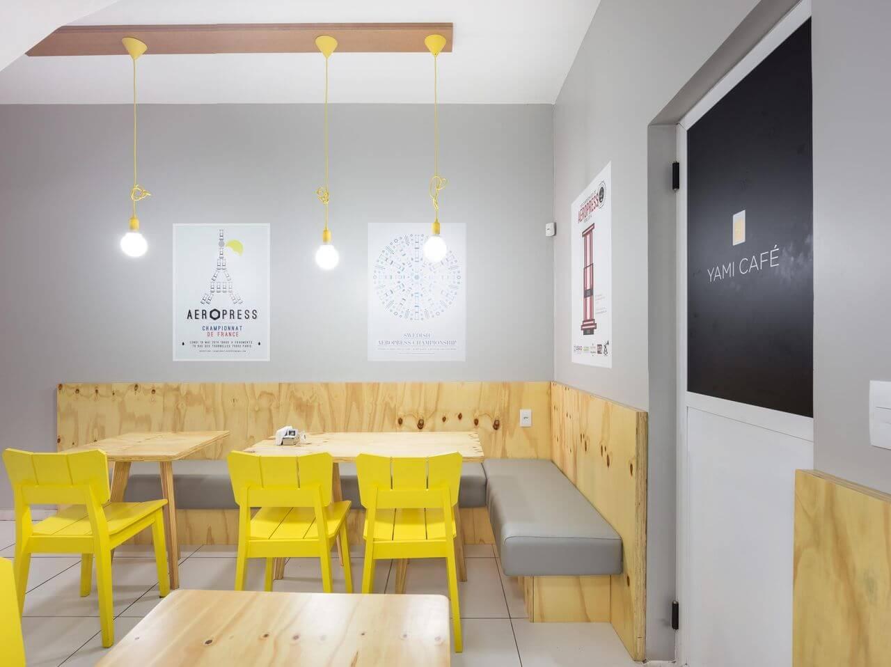 tipos de lâmpadas - pendente amarelo