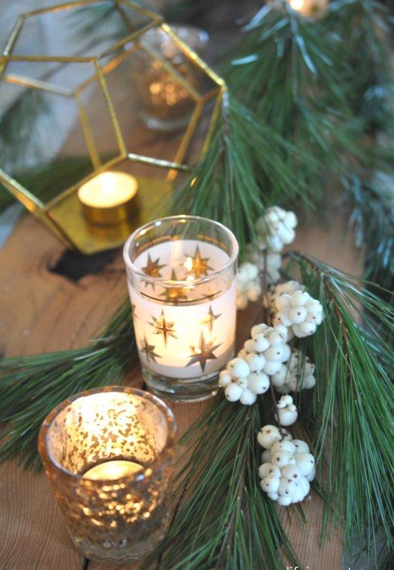 Velas para decoração de natal em formato de estrela