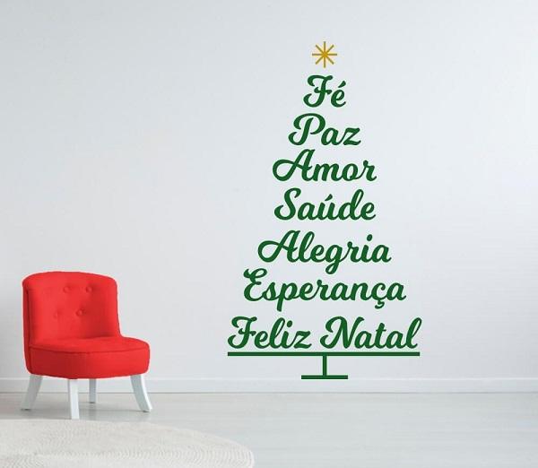 Arvore De Natal Na Parede 80 Ideias Criativas E Baratas