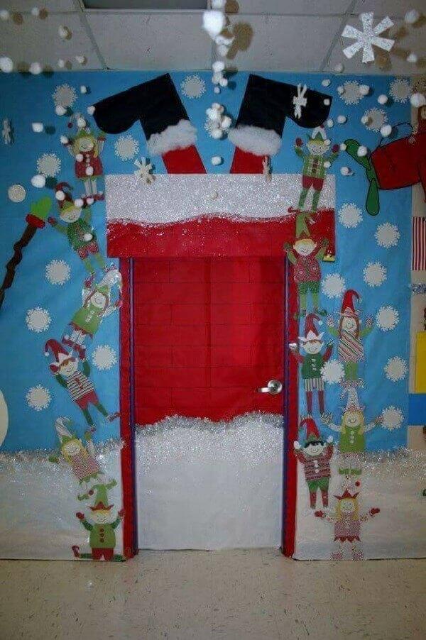 Enfeite de natal para porta super criativo e lúdico para as crianças
