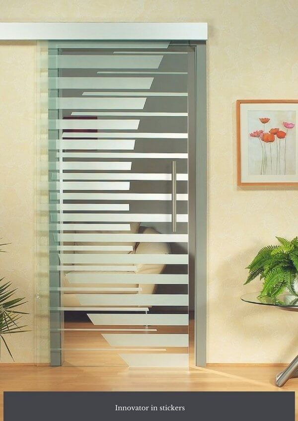 Adesivo para vidro jateado com design criativo