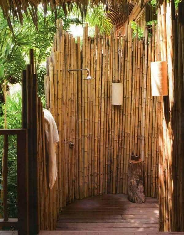 A cerca traz privacidade para o momento do banho