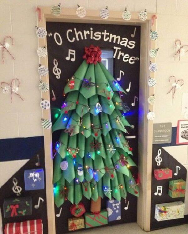 Enfeite de natal para porta criativo decora a escola infantil