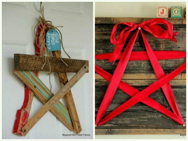 Estrela de madeira decora o ambiente