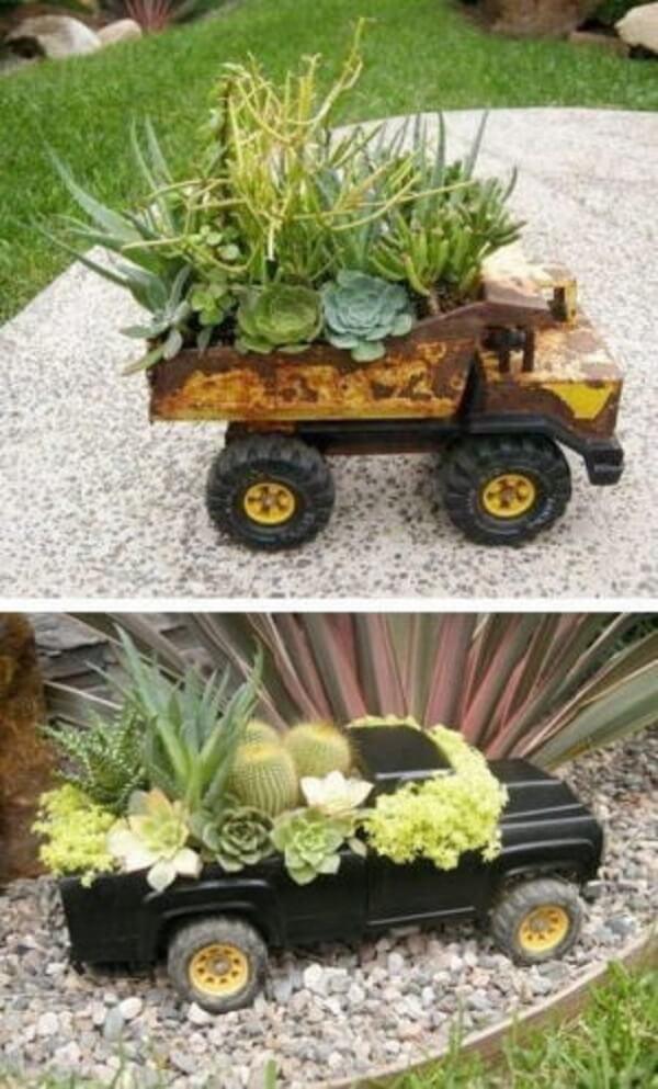 Suporte criativos para formar um lindo jardim de suculentas