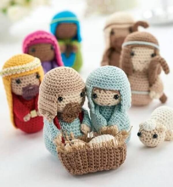 Decoração natalina delicada feita com crochê