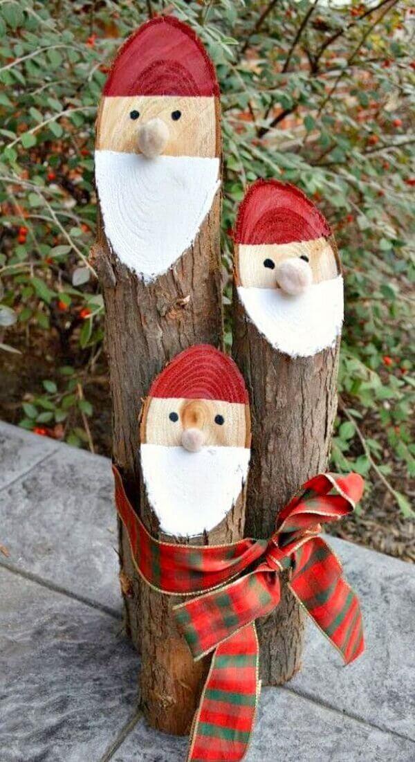 Reaproveite galhos de madeira e crie lindos enfeites de Natal