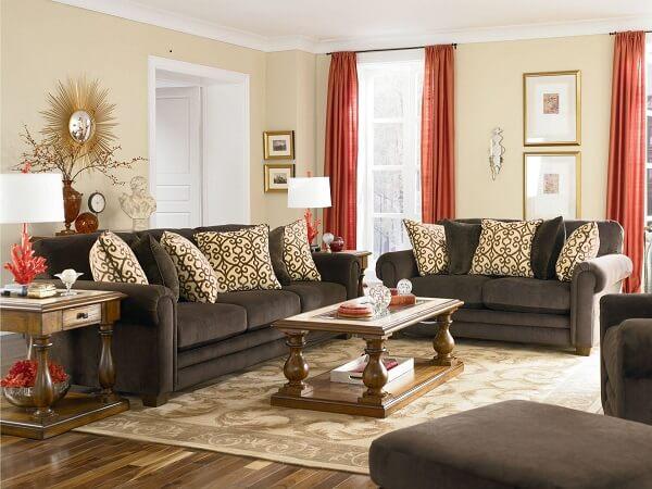 Conjunto de sofá 2 e 3 lugares suede