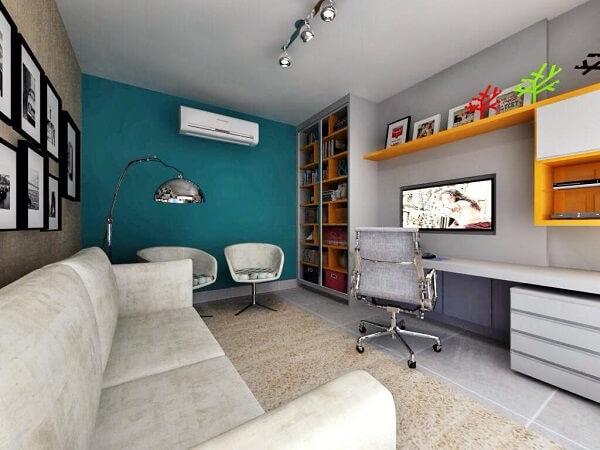 Utilize poltronas para sala de tv giratória