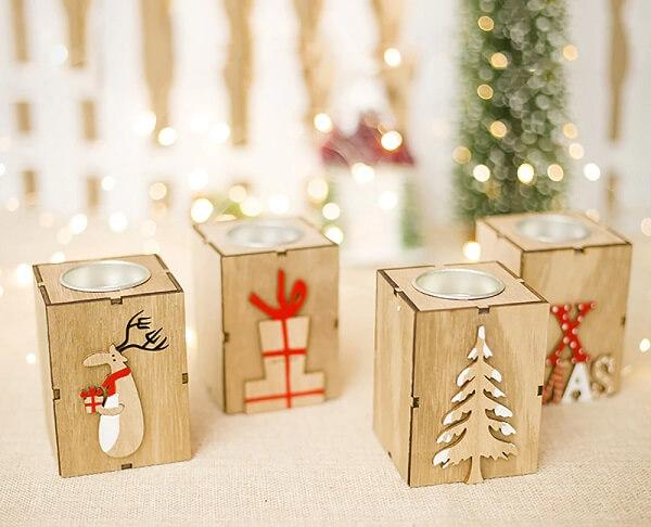 Velinhas decorativas utilizadas como enfeites de Natal