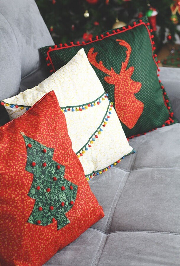 personalized pillows for Christmas decoration Foto Pinterest