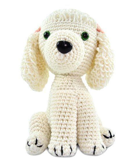 amigurumi - cachorro branco de amigurumi