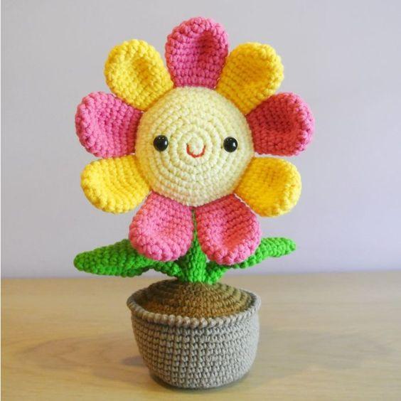 amigurumi - flor de amigurumi