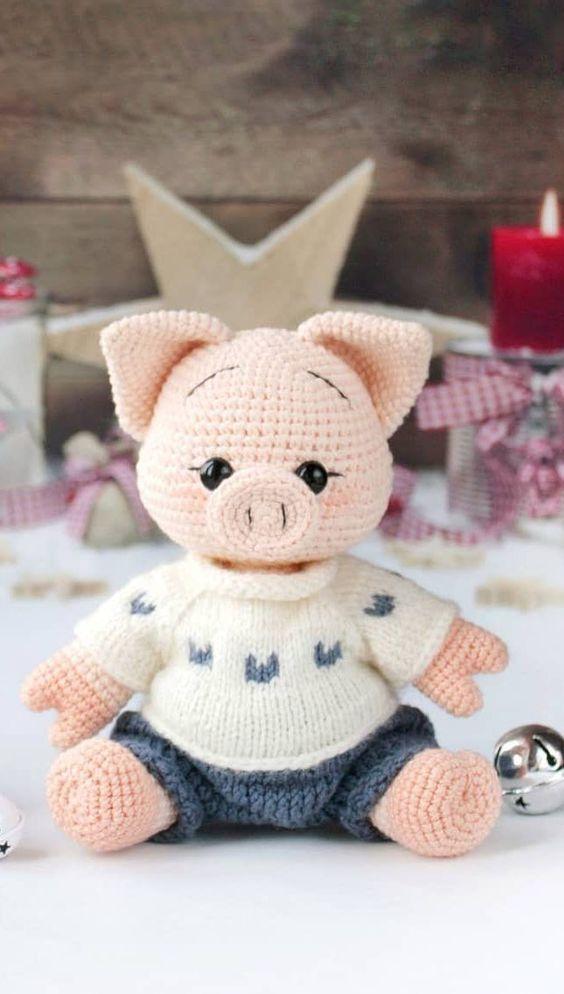 amigurumi - porco de amigurumi