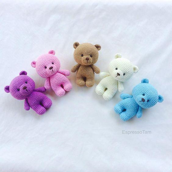 Amigurumi Chaveiro Urso Em Crochê - Material e Vídeo | Bigtudo ... | 564x564