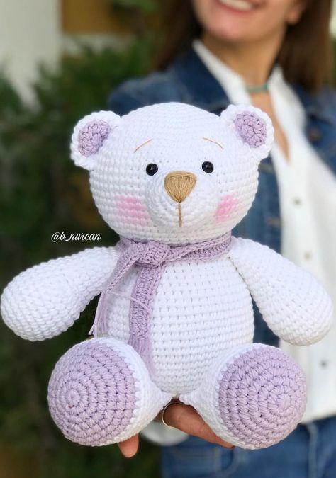 Urso amigurumi no Elo7 | Maçã Verde Crochê (D48135) | 675x474
