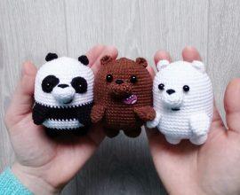 amigurumi - ursos em miniatura de amigurumi - Amimore