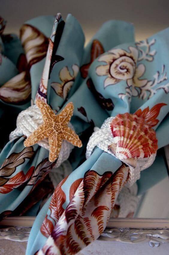 Guardanapo de tecido praiano para festa temática