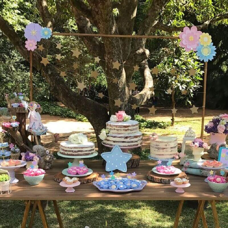 aniversário piquenique decorado em tons pastéis Foto Natália Escudeiro