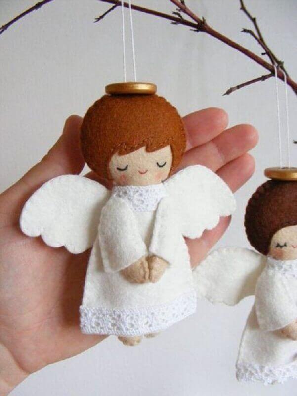 anjinhos de enfeites de árvore de natal Foto Macetes de Mãe