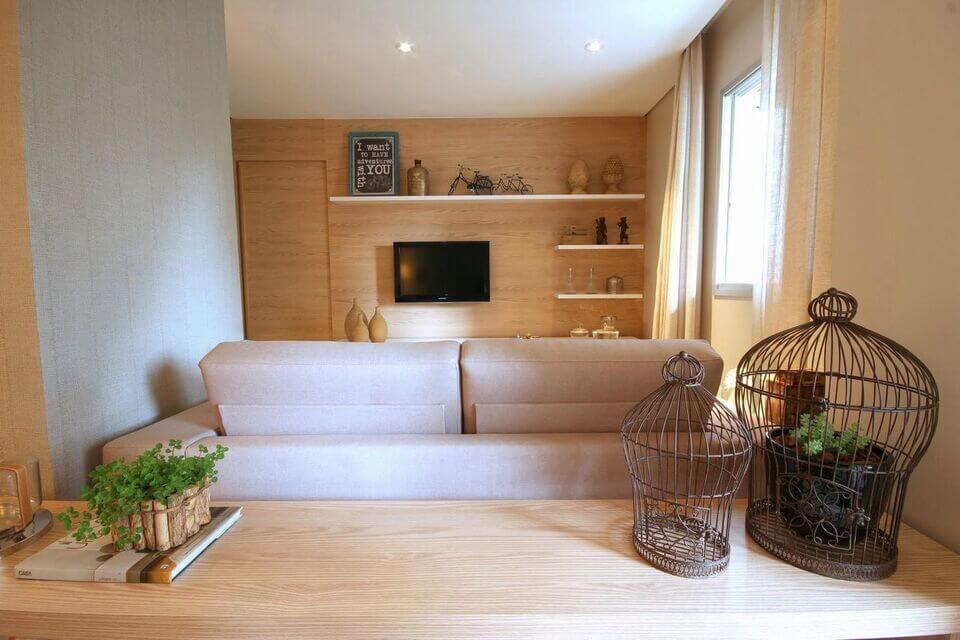 aparador de sofá - aparador atrás do sofá com porta vela em formato D