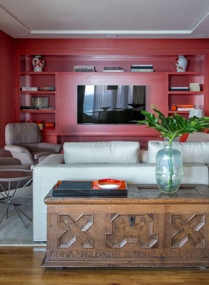 aparador de sofá - aparador baú