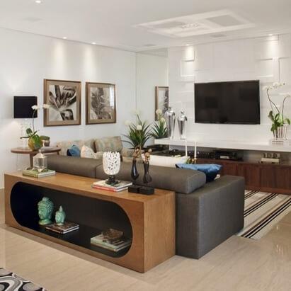 aparador de sofá - aparador com espaço para obras