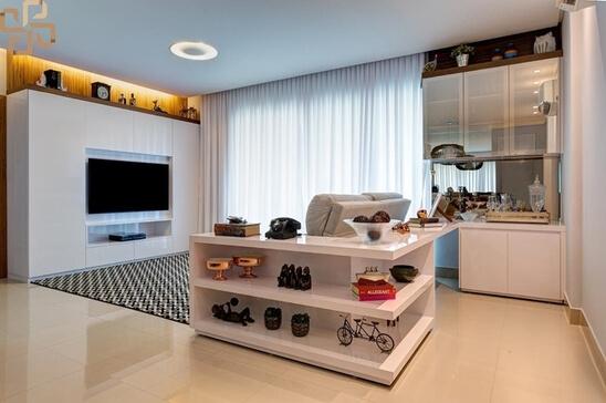 aparador de sofá - aparador com prateleiras