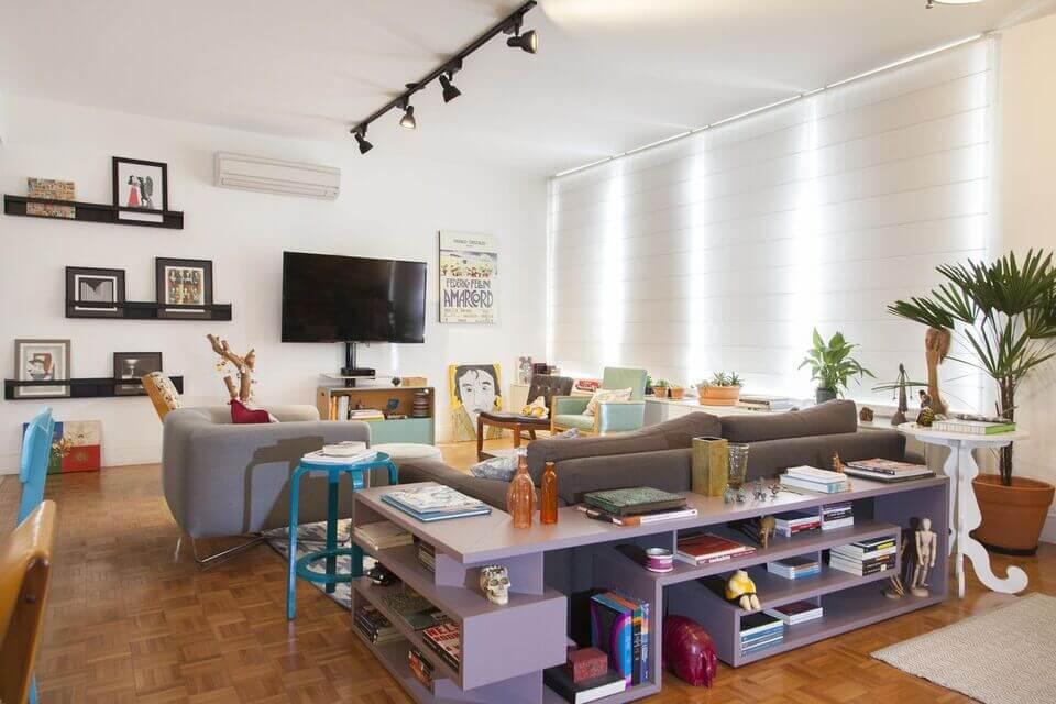 aparador de sofá - sala de estar com aparador