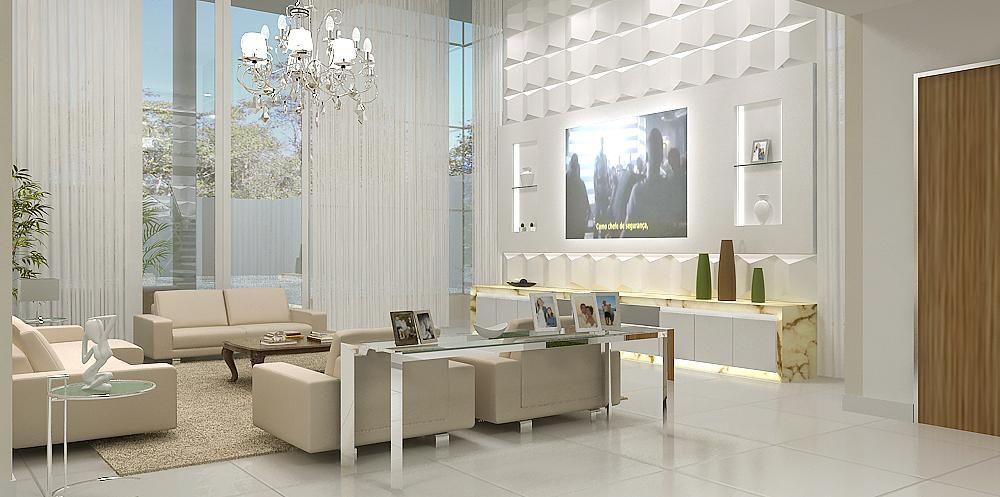 aparador de sofá - sala de estar com aparador de vidro