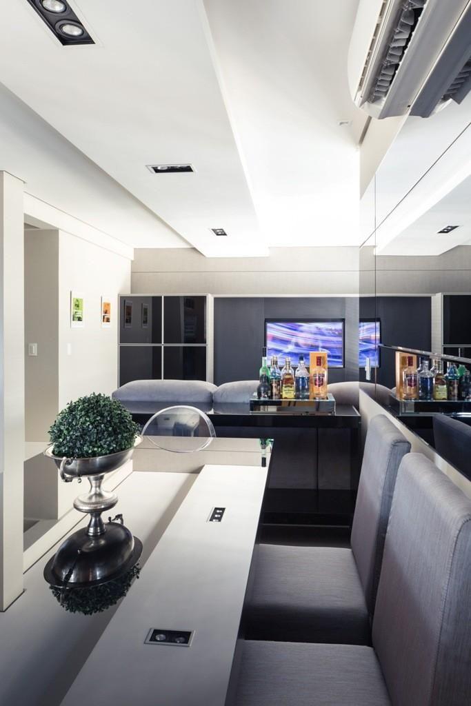 aparador de sofá - sala de jantar com aparador preto