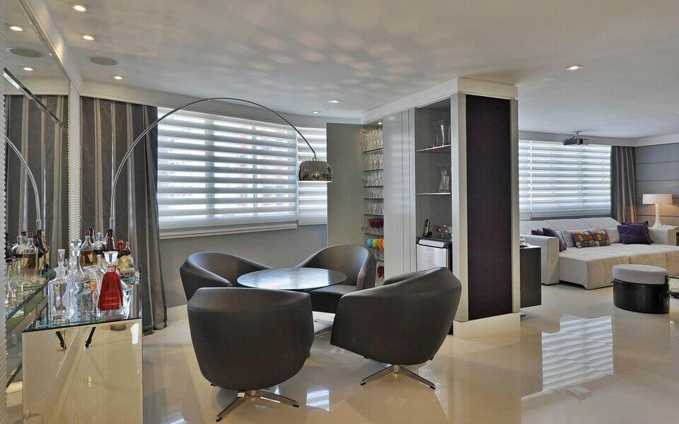 aparador de vidro - adega com aparador de vidro e espelhos