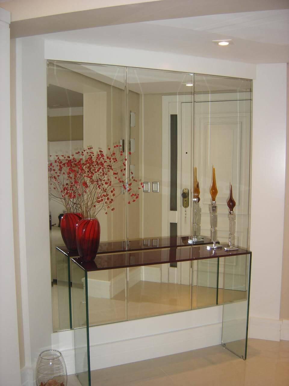 aparador de vidro - aparador de vidro pintado
