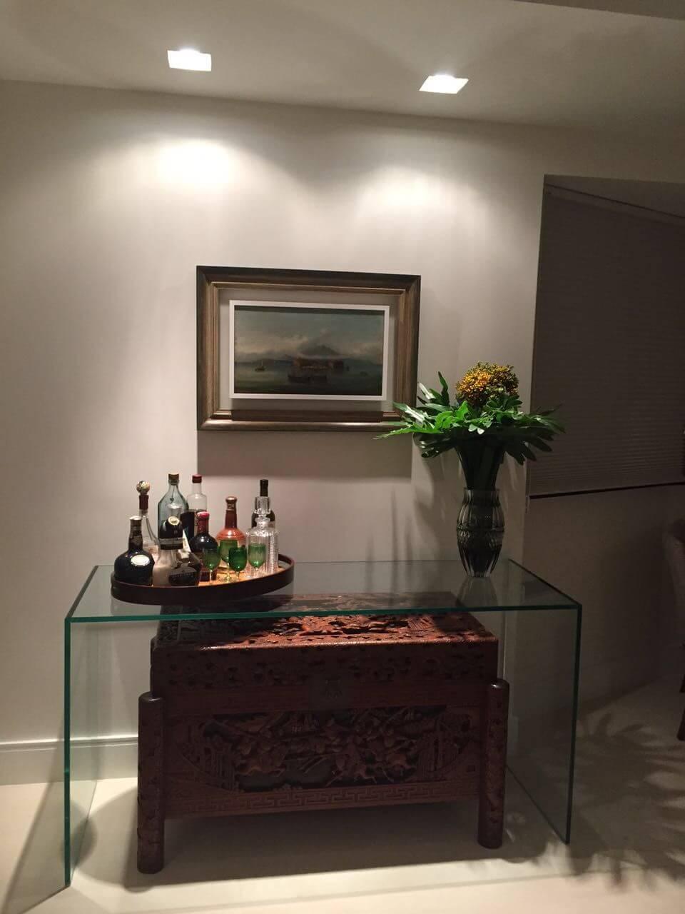 aparador de vidro - aparador de vidro simples