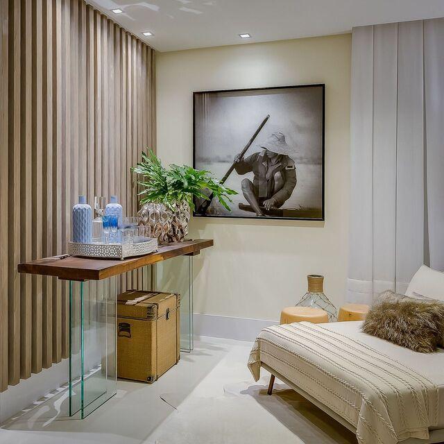 aparador de vidro - sala com aparador de madeira e vidro com bar