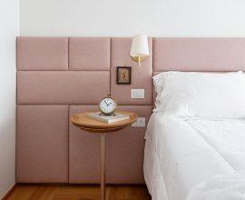 arandela para quarto - arandela afixada em cabeceira estofada - Manual da Obra