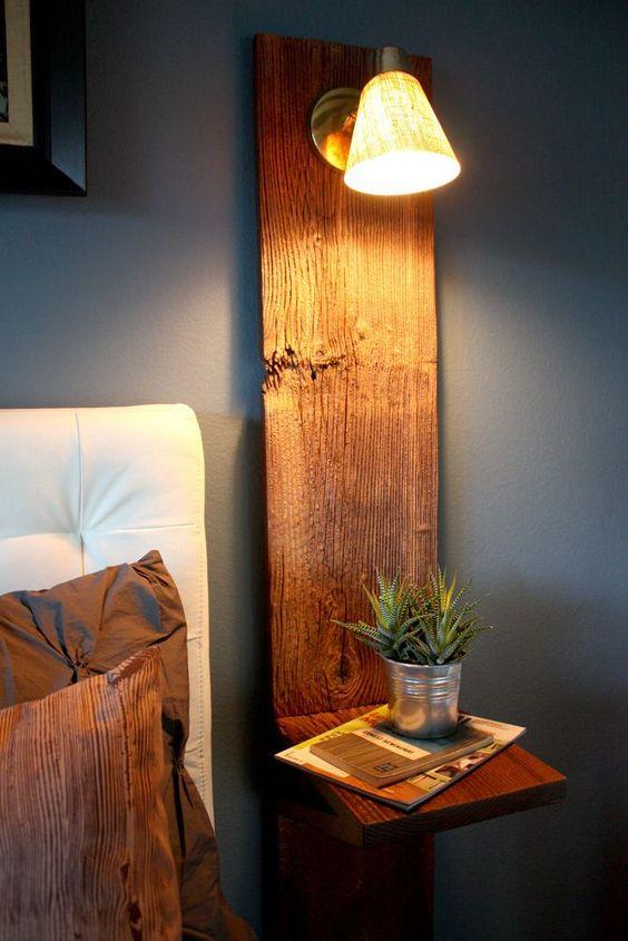 bedroom wall light - rustic wall light