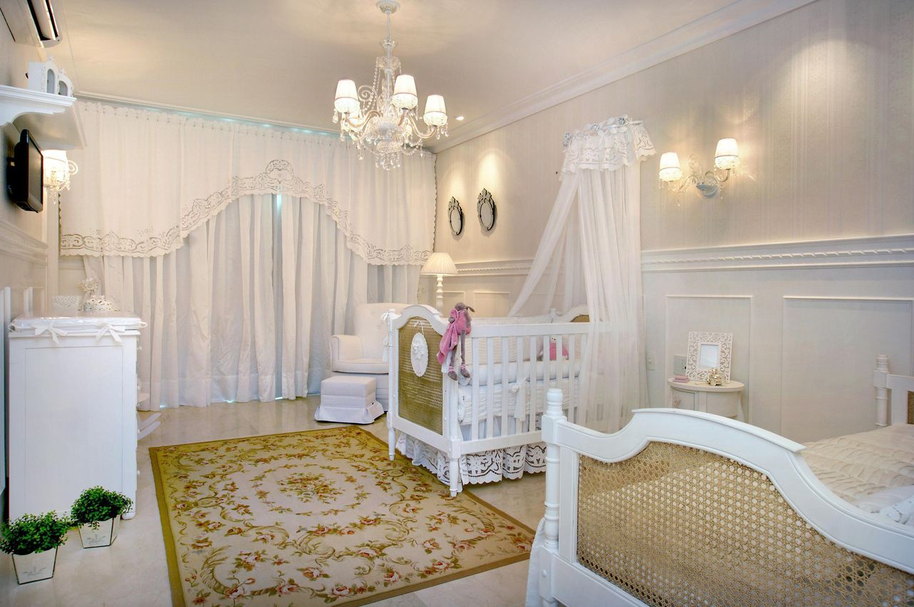 bedroom sconce - baby room with floral rug