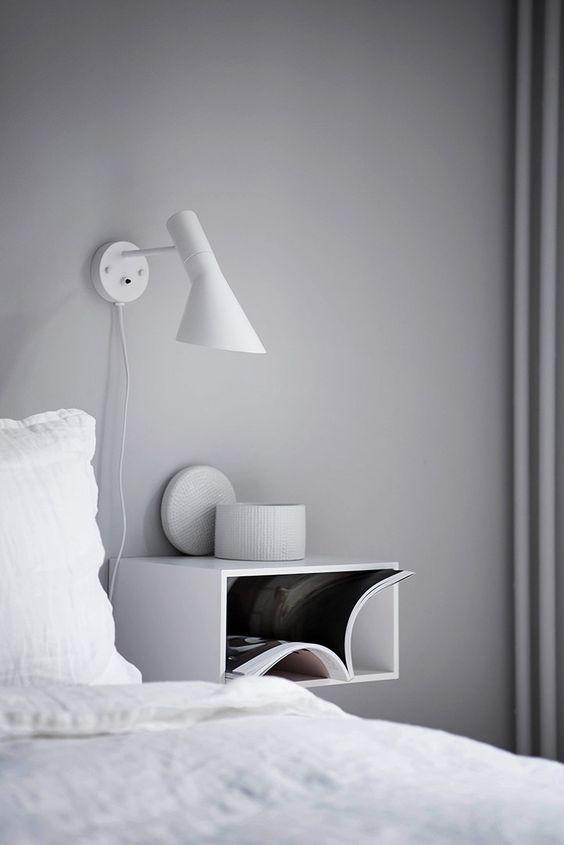 arandela para quarto - quarto em tons brancos