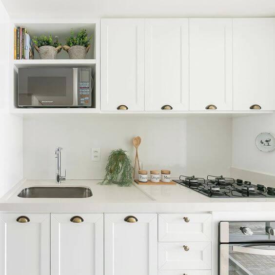 Armário de cozinha escandinava modulada