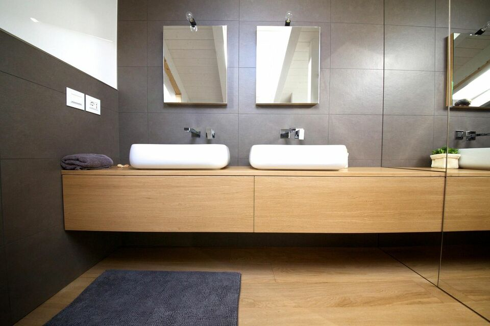 balcão para banheiro - lavabo com cuba de porcelana