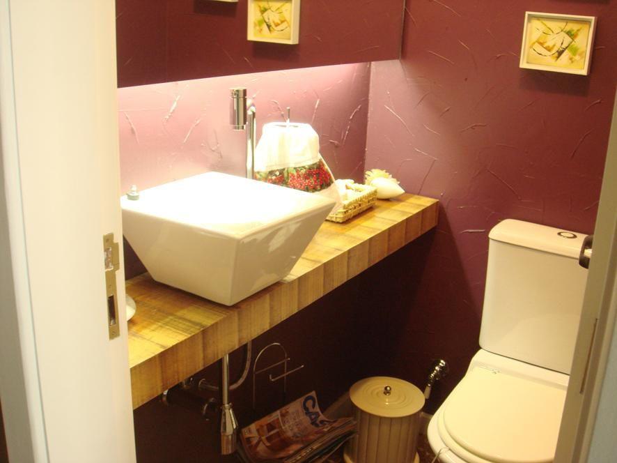 balcão para banheiro - lavabo com cuba de porcelana simples