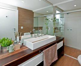 balcão para banheiro - lavabo com cuba quadrada - Juliana Pippi