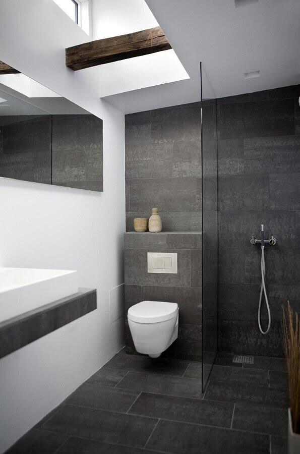 banheiro cinza e branco moderno Foto AECCafe