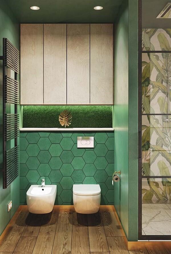 Spot de luz embutido para iluminação do banheiro