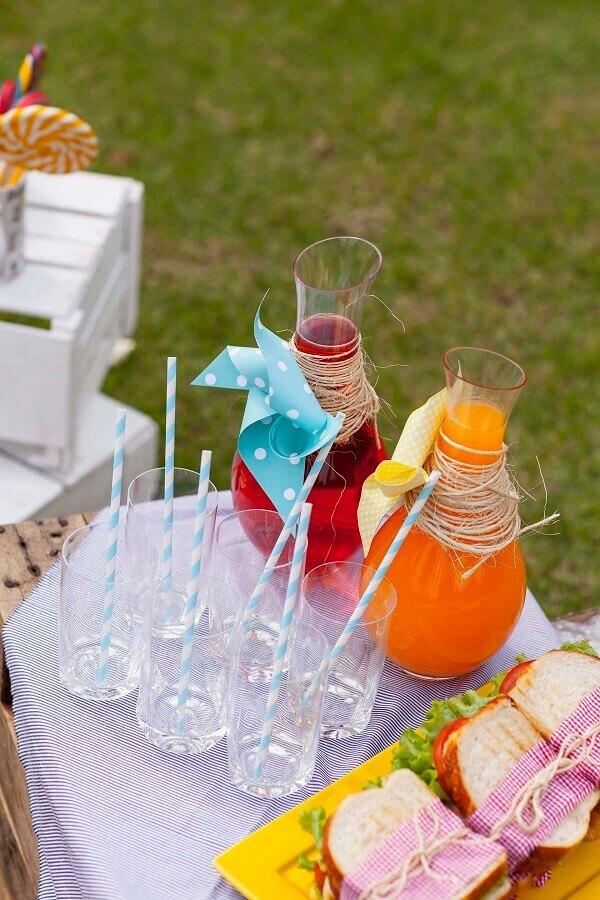 bebidas para festa piquenique Foto Puxe uma Cadeira