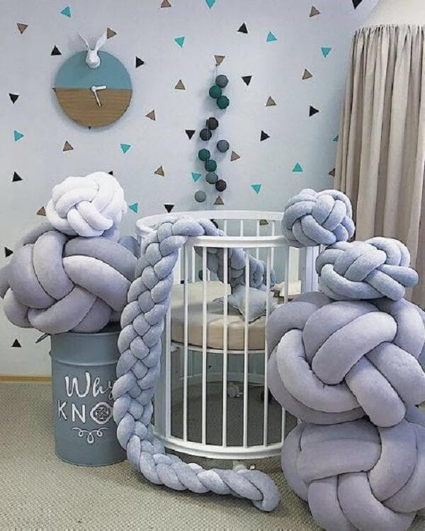 A almofada de nó transforma a decoração do ambiente
