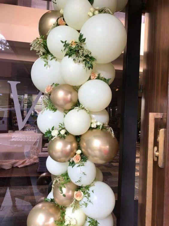 bodas de ouro - bexigas douradas