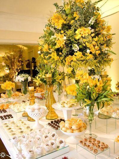 bodas de ouro - mesa de buffet
