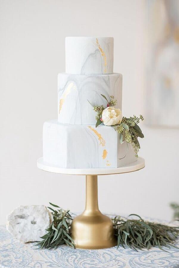 bolo de casamento moderno Foto Glamour & Grace